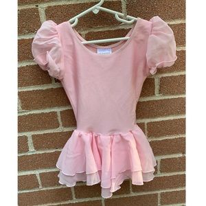 Cute pink leotard with tutu